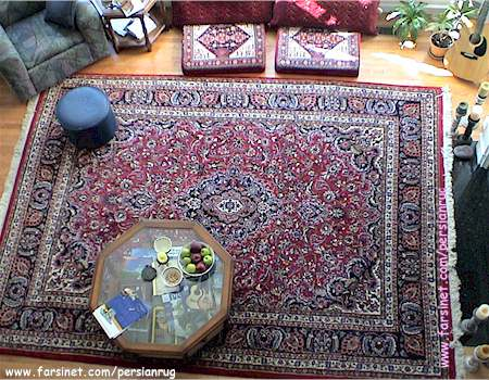 traditional living rooms with oriental rugs modern floating shelves for room decorated width a mashhad hunting scence design persian rug