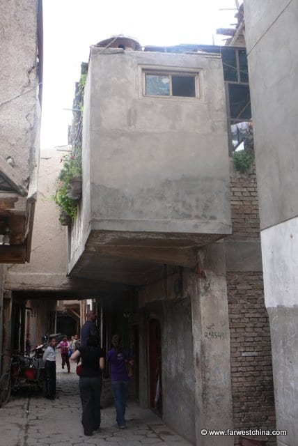A mud building in Kashgar's Old City