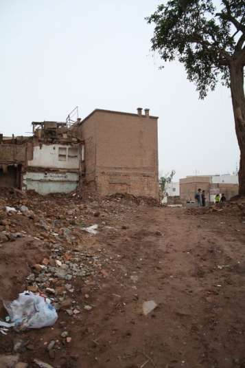 Another portion of Kashgar's Old Town demolished