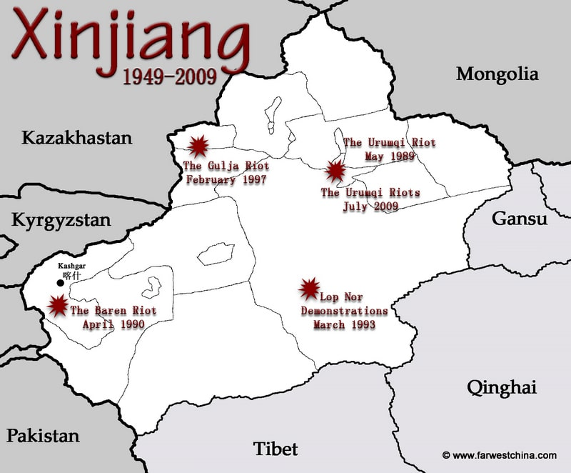 A Recent History of Unrest in Xinjiang Xinjiang Far West China