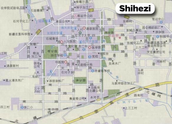 A Chinese road map of Shihezi