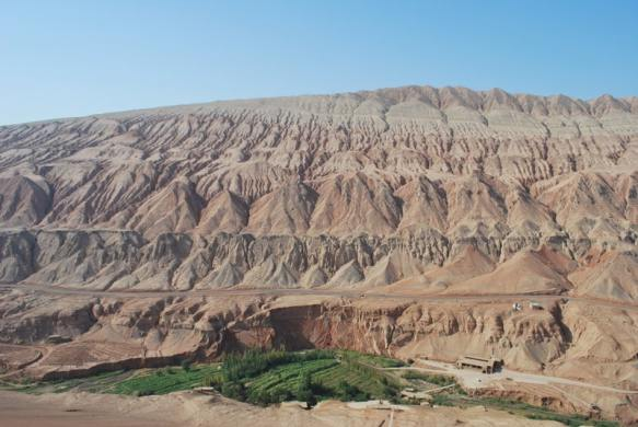 Flaming Mountains of Turpan in Xinjiang, China