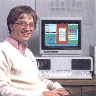 Bill Gates in a 1985 Windows advertisement