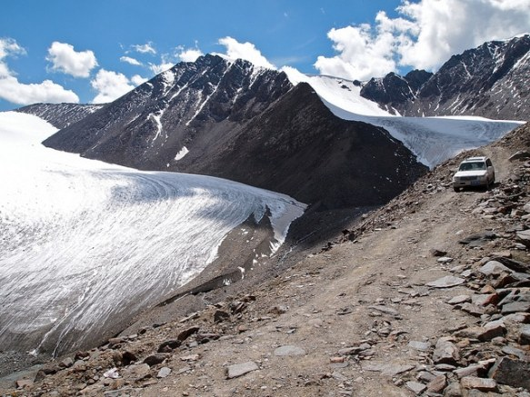 The No. 1 Glacier outside Urumqi in Xinjiang, China