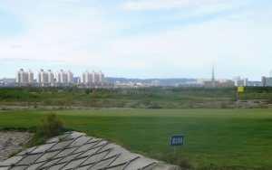 A golf course in Karamay, Xinjiang