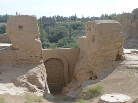 The eastern entrance of Turpan's Ancient City of Jiaohe (Xinjiang)