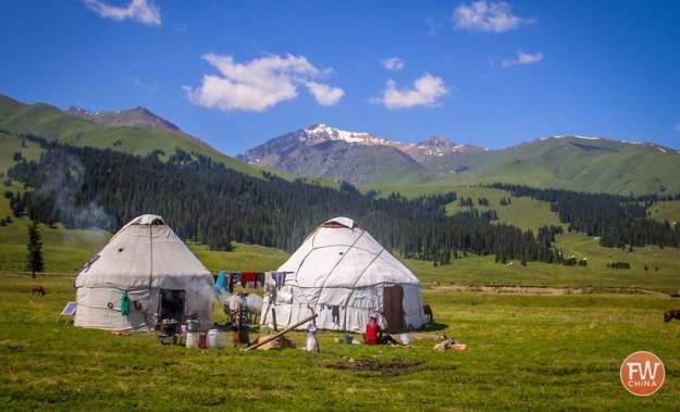 The Narat (Nalati 那拉提) Grasslands in Yili, Xinjiang