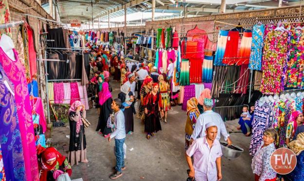 Inside the Kashgar Sunday Bazaar in Xinjiang, China