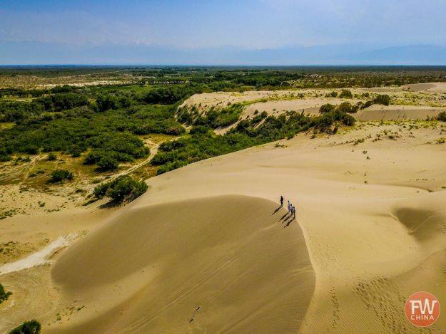 The Wusu Desert in Xinjiang, China