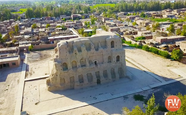 The Taizang Tower in Turpan, Xinjiang