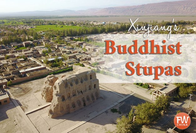 Xinjiang's historic Buddhist stupas from the ancient Silk Road