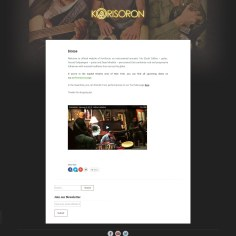 Official website of Korisoron band