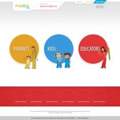 Landing page for Johnson & Johnson sponsored bilingual education website
