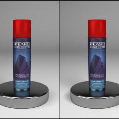 Lighter Butane Can design and 3D mockup