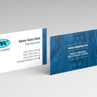 MK Lighter company business card template