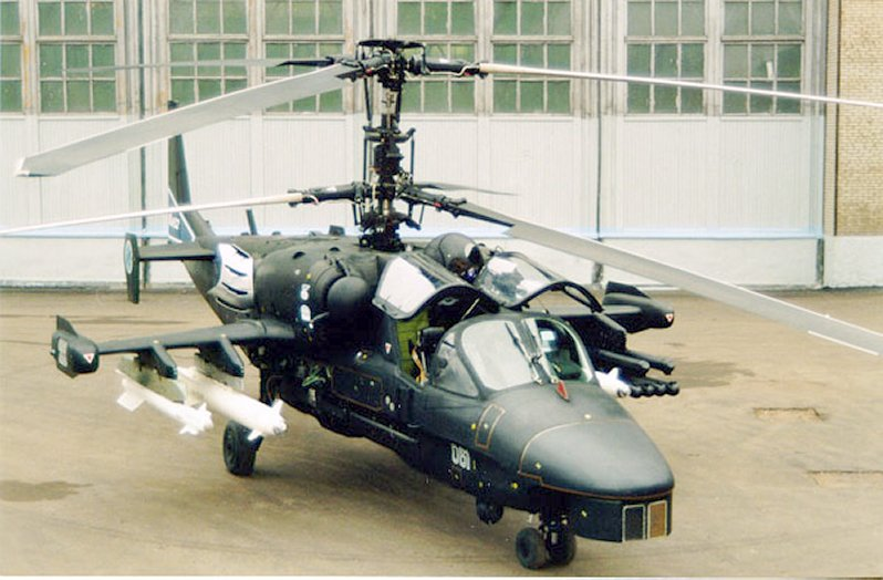 Ka-52 en tierra