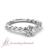 .55 Ct Oval Shaped Cut:Very Good Diamond Solitaire Twisted ...