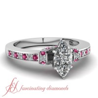 1.10 Ct Marquise Cut:Very Good Diamond Pave Engagement ...