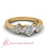 1 Ct GIA Certified Heart Unique Yellow Gold Diamond ...