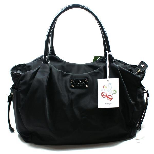 Kate Spade Stevie Baby Bag Basic Nylon Black Diaper #wkru1370 Wkru1370