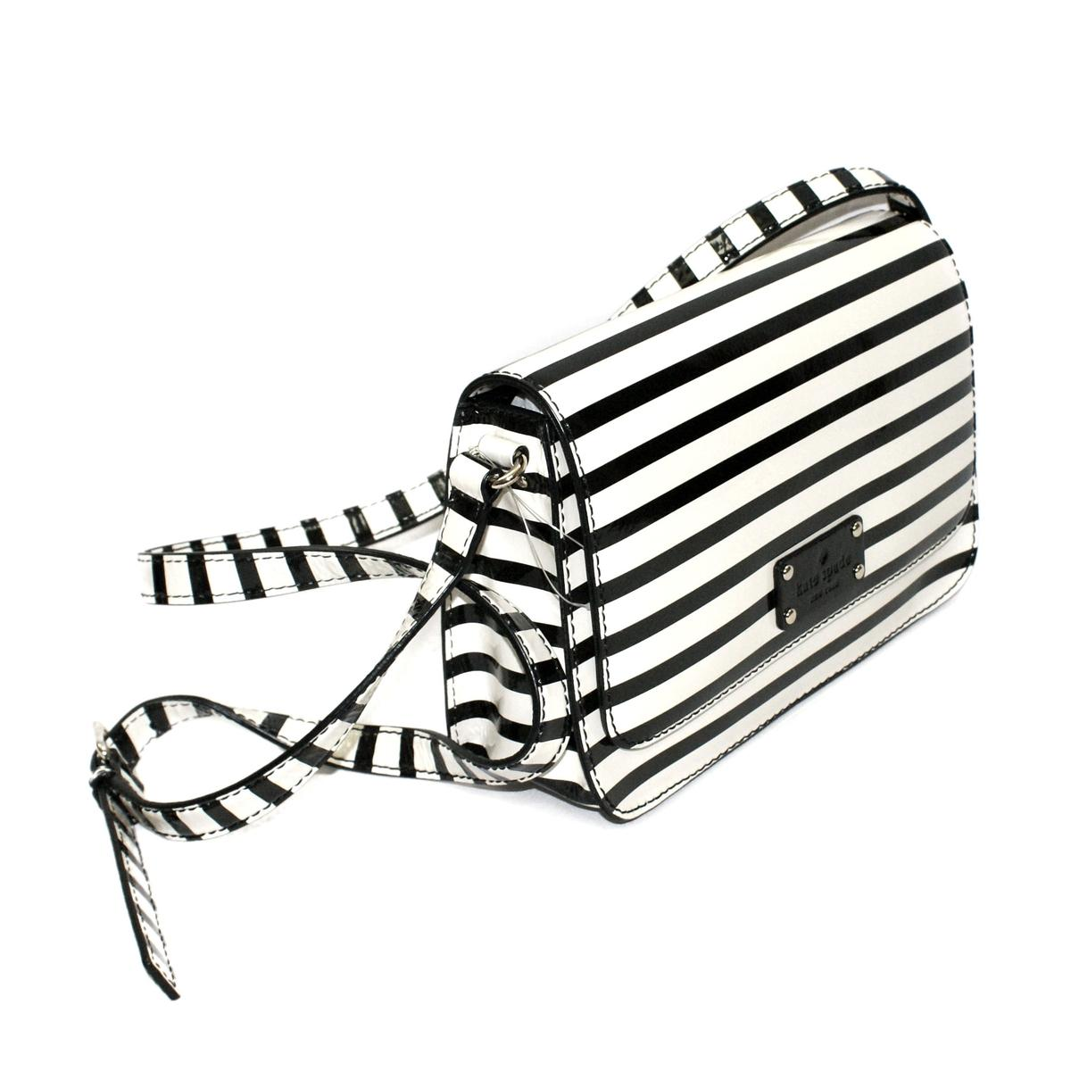 Kate Spade Fynn Wellesley Patent Stripe Swing Crossbody