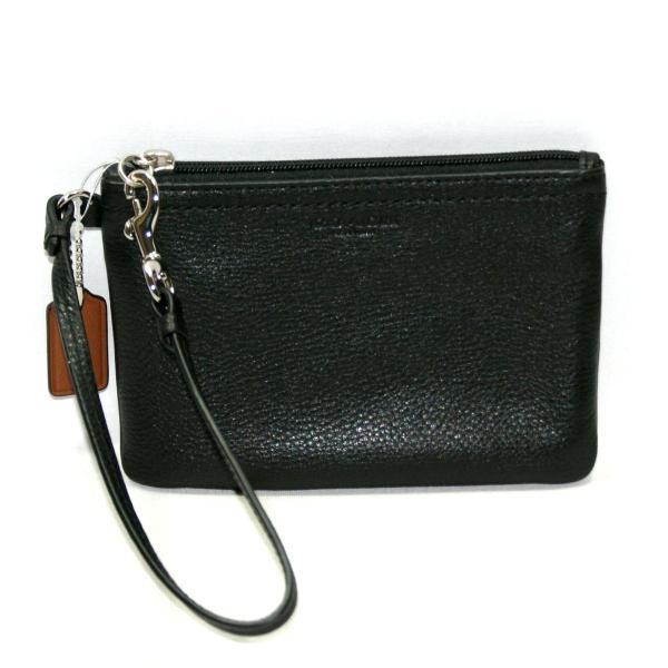 Coach Park Leather Small Wristlet Black #51763 51763