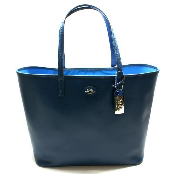 Coach Brilliant Blue Leather Large Tote Bag #32701