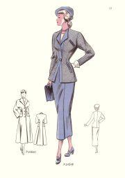 fashion drawings 1940