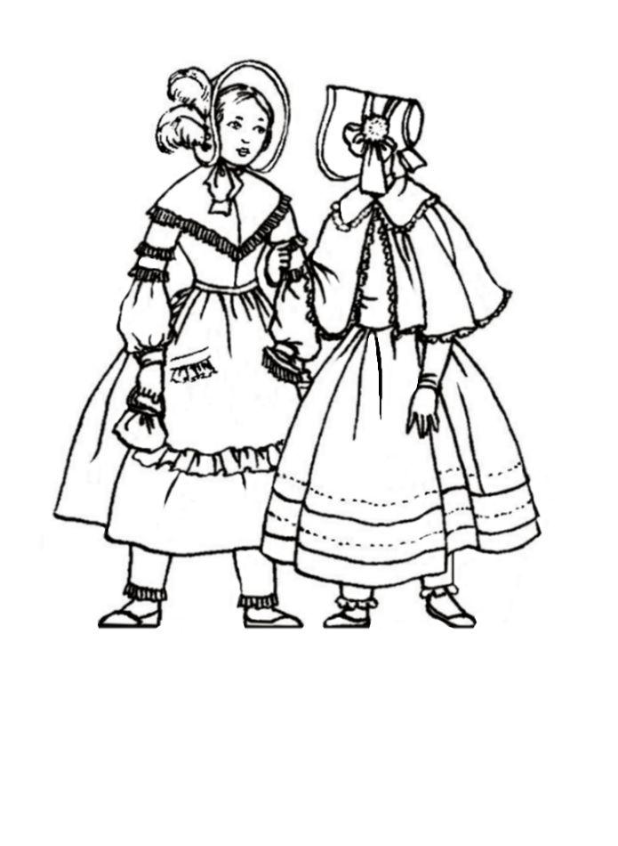 Children in Costume History 1840-1850 Romantic Fashions
