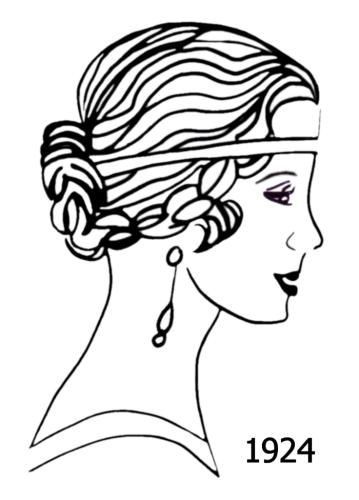 30 drawing hairstyles women gatsby hairstyles ideas walk the falls 1920 Flapper Hair costume history silhouettes 1924 1925