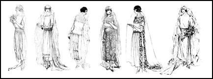 1920's Wedding Dress. Photo Bride's 1921 Wedding Dress