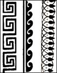 The most famous Greek pattern is the Greek key pattern.