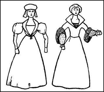 Poor Tudor Men And Women Colouring Pages Page 3 Sketch