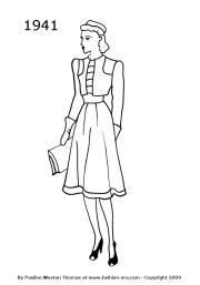 fashion silhouettes 1941 free women's