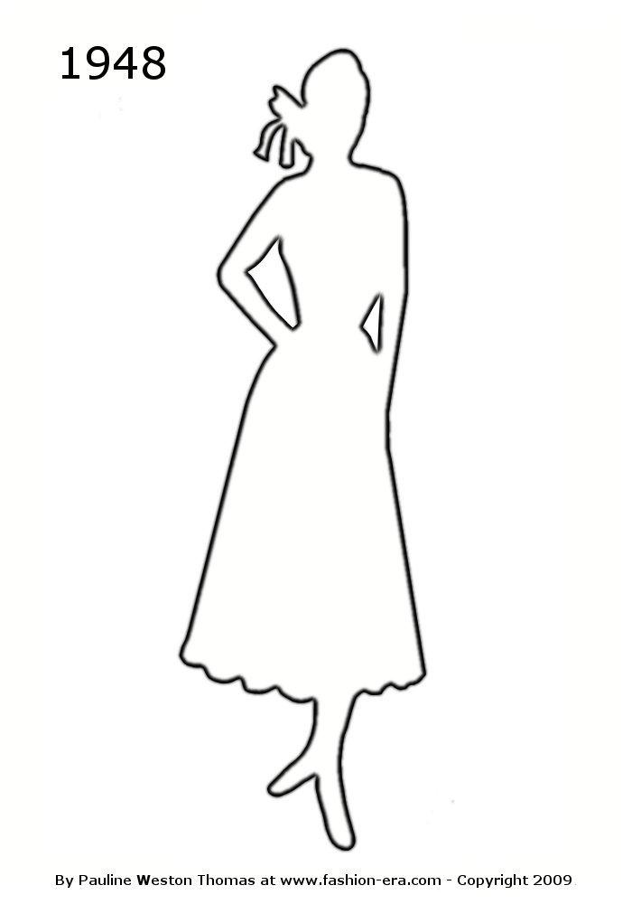 Women Dress Outline With Fantastic White Accent