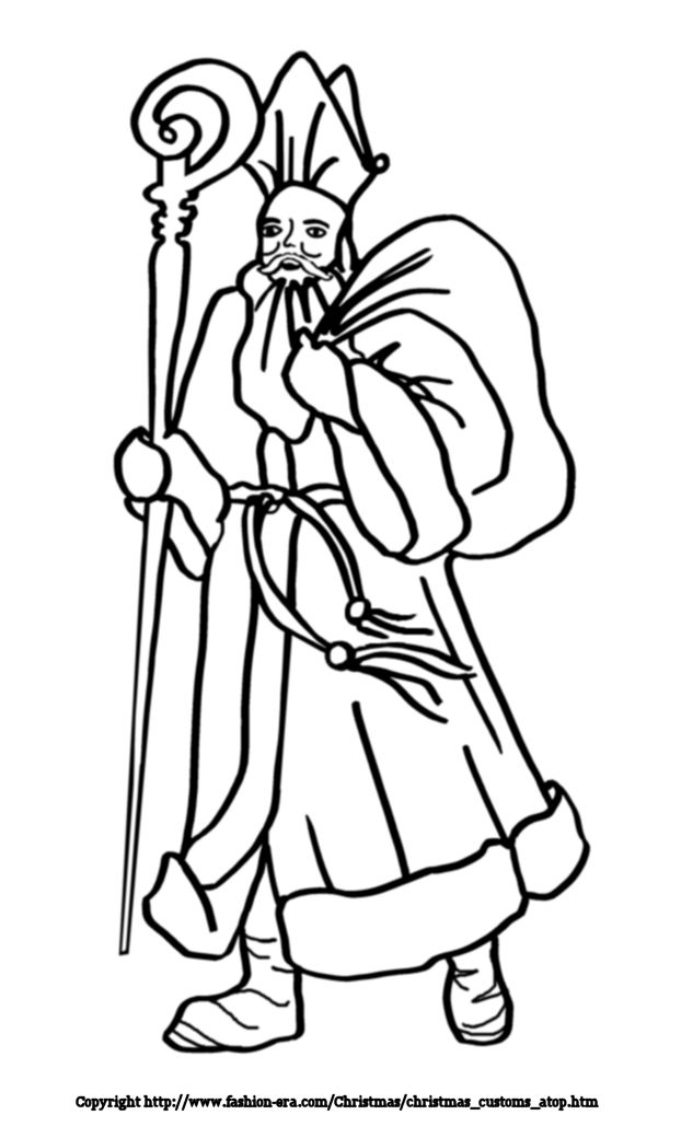 Santa Picture colouring-in. Free Colouring Pictures of
