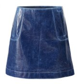 H&M_Studio_AW17_Colette_3_mini_skirt_rock_blau_blue_lack_leder