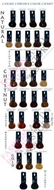 lakme chroma hair color chart