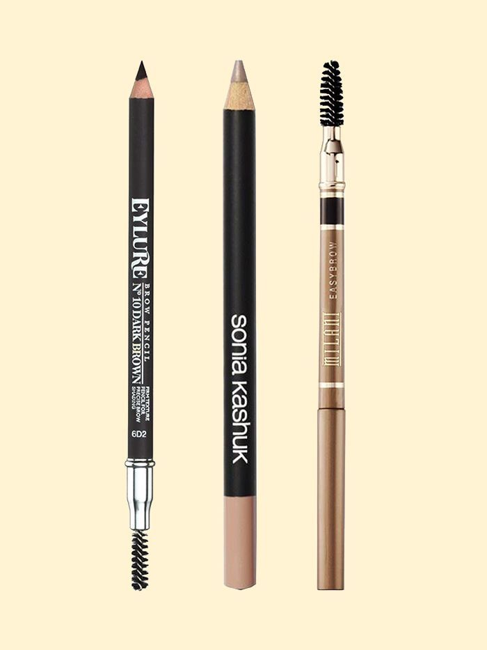 brow with pencil