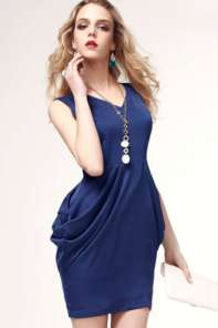 2015 Casual Dress Models - Dark Blue