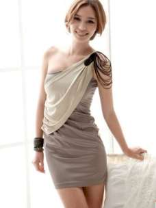 2015 Short Dress Models - Gray