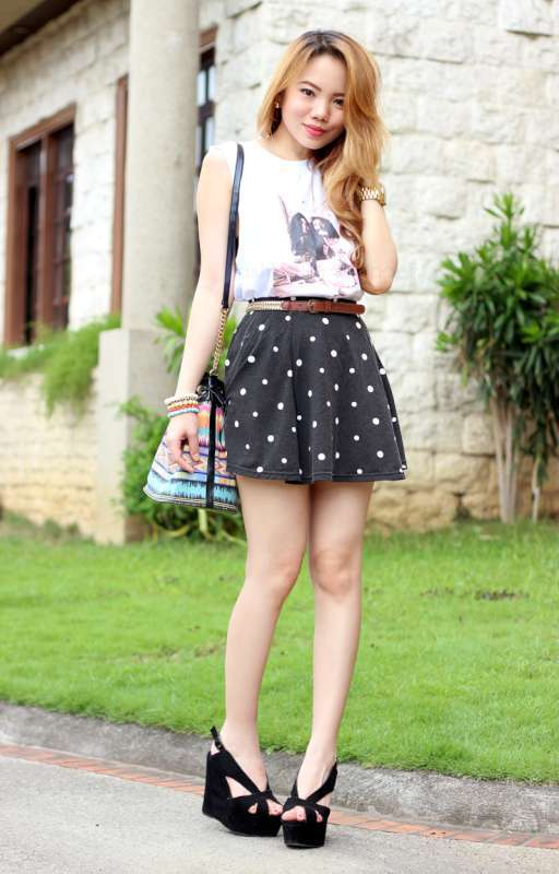 2015 Skirt - Black Dot