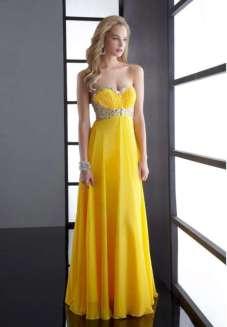 Yellow Evening Dresses 2015