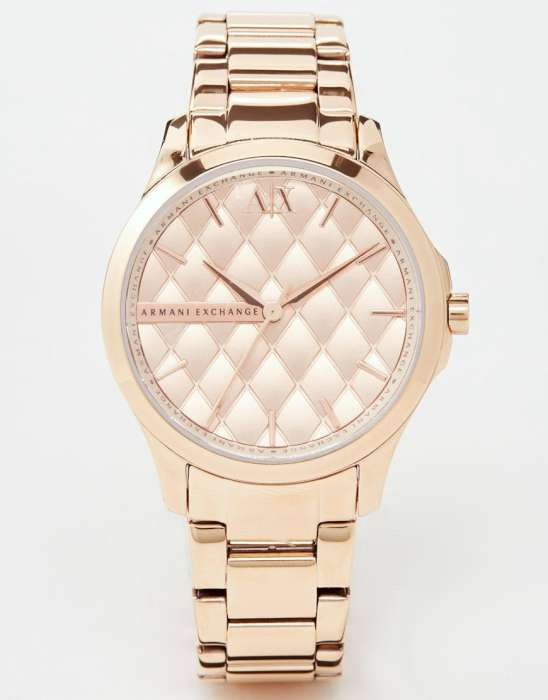 Armani Exchange Lady Hampton Rose Gold Watch