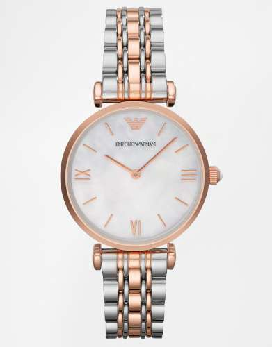 Emporio Armarni Gianni T-Bar Mixed Metal Watch