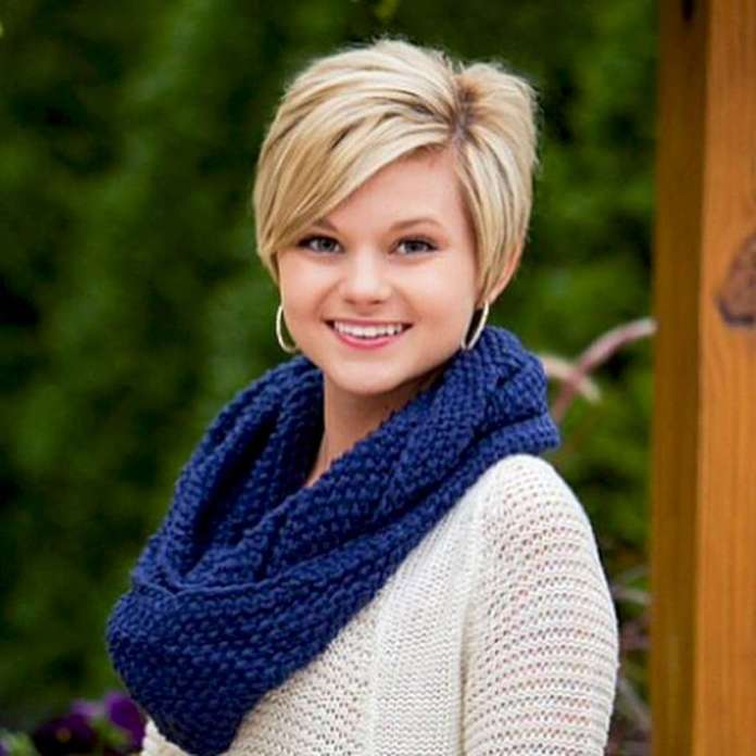 Short Hairstyles For Round Faces - 1