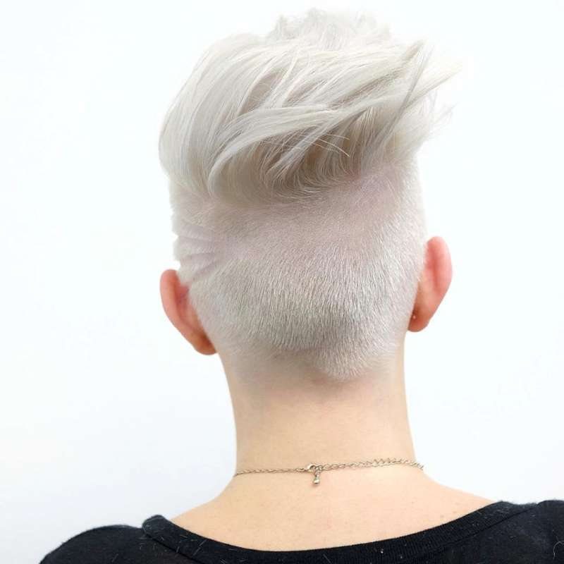Short Hairstyles White Hair - 3