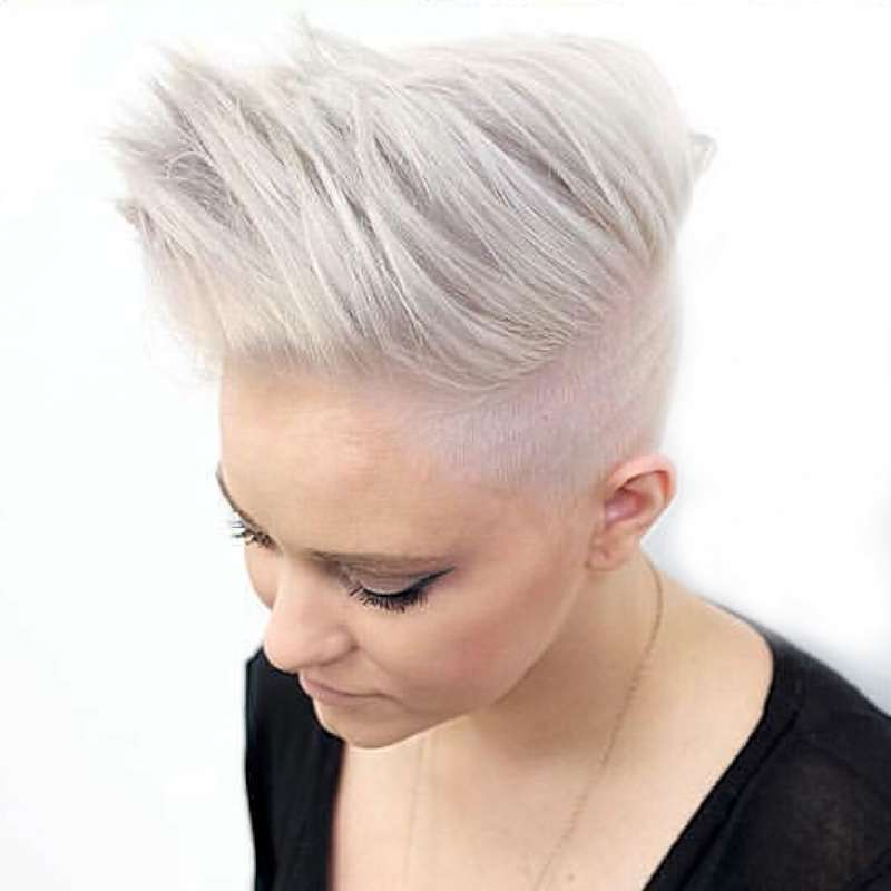 Short Hairstyles White Hair - 4