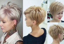 Short Hairstyle Evening