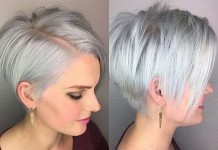 Short Hairstyle Grey 2017